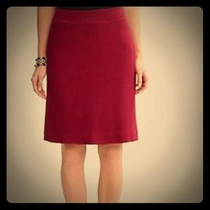 Banana Republic Marilyn Garnet Wool Blend Skirt